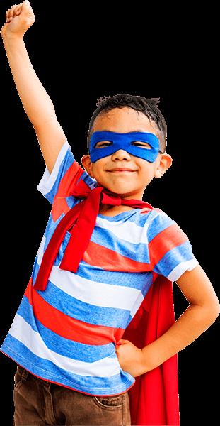 O super herói da brinquedoteca do Olinda