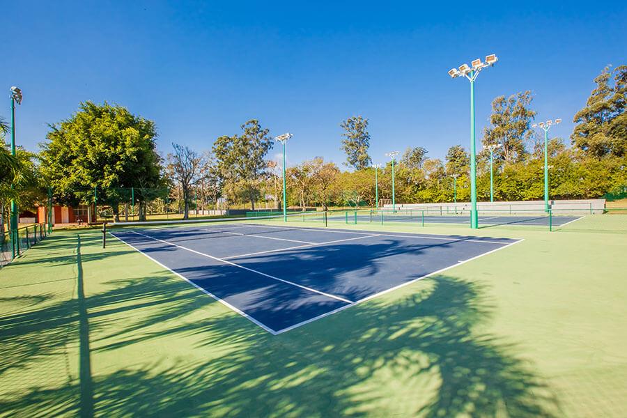 Quadra de tênis oficial