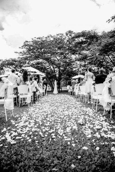Casamentos fantásticos em contato com a natureza